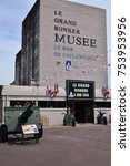 Small photo of Ouistreham, Riva Bella; France - july 17 2017 : the Grand Bunker, museum of 6 june 1944