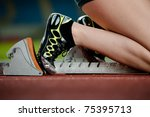 detailed view of a female... | Shutterstock . vector #75395713
