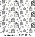 present seamless pattern.... | Shutterstock .eps vector #753957136
