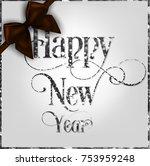 happy new year vector greeting... | Shutterstock .eps vector #753959248