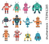 Set Of Robot Characters...