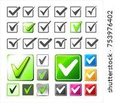 v logos collection. validation... | Shutterstock . vector #753976402