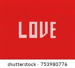 fair isle style knitted sweater ... | Shutterstock .eps vector #753980776