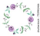 watercolor spring summer flower ... | Shutterstock . vector #753981466