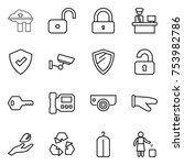 thin line icon set   factory... | Shutterstock .eps vector #753982786