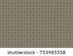 vintage pattern art design | Shutterstock .eps vector #753985558