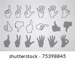 Hand Gesture  Numbers And...