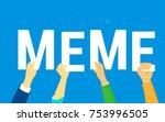 meme letters concept vector... | Shutterstock .eps vector #753996505