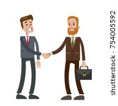 isolated two businessmen... | Shutterstock .eps vector #754005592