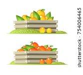 crate of fruit | Shutterstock .eps vector #754006465