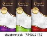 chocolate bar packaging set.... | Shutterstock .eps vector #754011472