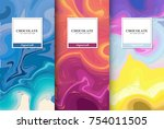 chocolate bar packaging set.... | Shutterstock .eps vector #754011505