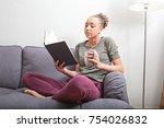 beautiful african american... | Shutterstock . vector #754026832