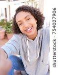 fun portrait beautiful smiling...   Shutterstock . vector #754027906