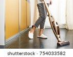asian teenage girl using... | Shutterstock . vector #754033582