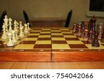 Small photo of The chess pieces are on the Board and ready to play