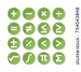 circle mathematics symbol icon... | Shutterstock .eps vector #754043848