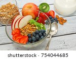 ready to eat healthy an... | Shutterstock . vector #754044685