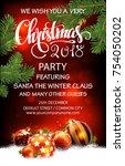 advertisement of a christmas... | Shutterstock .eps vector #754050202
