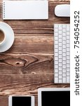 the white open notepad and... | Shutterstock . vector #754054252