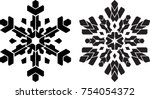 pair of stencil style... | Shutterstock .eps vector #754054372