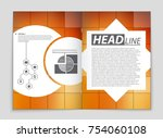 abstract vector layout... | Shutterstock .eps vector #754060108