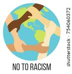 no to racism flat design icon   Shutterstock .eps vector #754060372