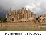 the cathedral of santa maria of ... | Shutterstock . vector #754069012