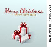 greeting card  invitation with... | Shutterstock .eps vector #754070035