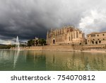 the cathedral of santa maria of ... | Shutterstock . vector #754070812