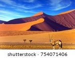 sunset in most ancient in the... | Shutterstock . vector #754071406
