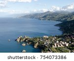 top view of the sicily  italy.... | Shutterstock . vector #754073386