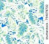 watercolor seamless pattern... | Shutterstock . vector #754078732