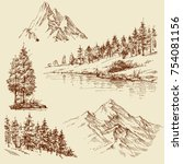 nature design elements.... | Shutterstock .eps vector #754081156