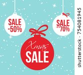 christmas hot sale banner for... | Shutterstock .eps vector #754081945