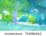 detail of the painting as a... | Shutterstock . vector #754086562