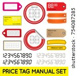 vector price tag set enable for ... | Shutterstock .eps vector #754087285