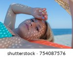 portrait of young woman with...   Shutterstock . vector #754087576