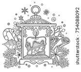 magic christmas  new year... | Shutterstock .eps vector #754088092