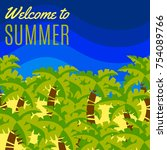 welcome to summer bright vector ... | Shutterstock .eps vector #754089766