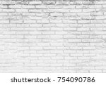 Old Black And White Brick Wall...