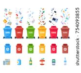 plastic containers for... | Shutterstock .eps vector #754093855
