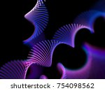 abstract glowing spiral ribbons ... | Shutterstock .eps vector #754098562