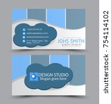 business card set template for... | Shutterstock .eps vector #754114102