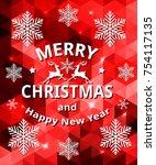 vector abstract christmas card...   Shutterstock .eps vector #754117135
