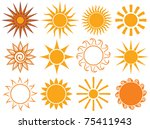 suns. elements for design | Shutterstock .eps vector #75411943