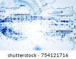 abstract technological... | Shutterstock .eps vector #754121716