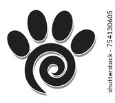 illustration paw print as a... | Shutterstock . vector #754130605