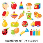 colorful toys for children - stock photo