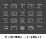 set of 48x48 minimal browser ... | Shutterstock . vector #754138186